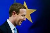 Le fondateur de Facebook, Mark Zuckerberg, à Bruxelles lundi 17 février.
