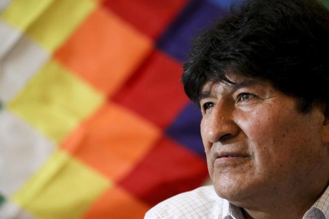 Evo Morales, à Buenos Aires en Argentine, où il est en exil, le 17 février 2020.