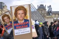 Manifestation contre la réforme des retraites à Paris, le 17 février.