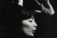 Juliette Gréco (1927-2020), chanteuse et actrice française née à Montpellier (France). En 1966.