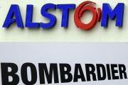 Logos d'Alstom et Bombardier.