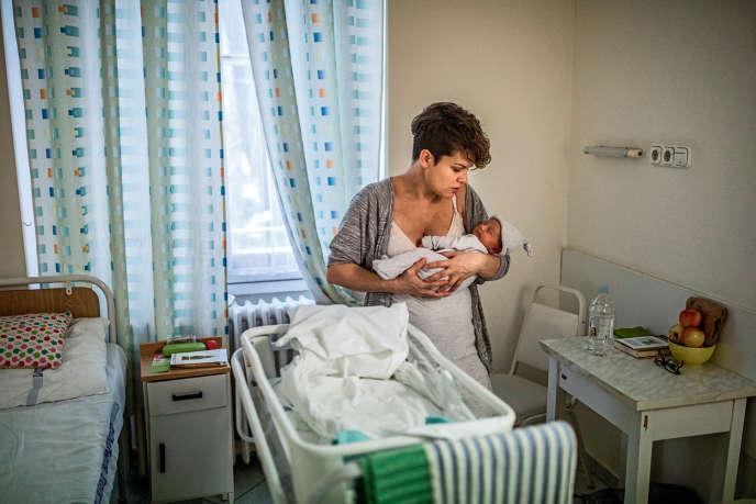En janvier 2019, dans une maternité de Budapest.