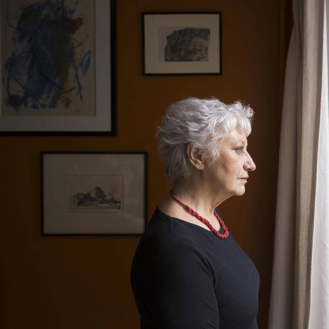L'écrivaine Anne-Marie Garat, en 2018.