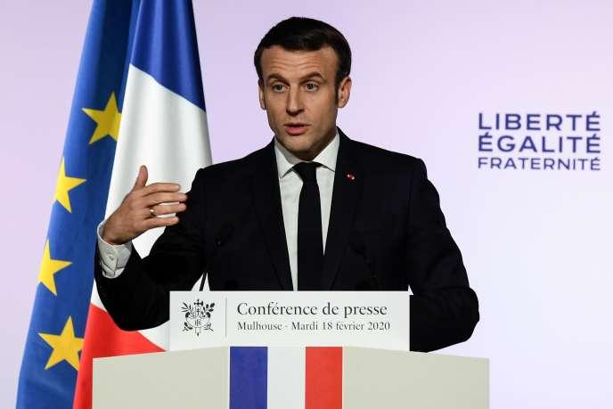 « Le séparatisme islamiste est incompatible avec la liberté et l'égalité, incompatible avec l'indivisibilité de la République et la nécessaire unité de la nation», a affirmé Emmanuel Macron dans un discours prononcé à Mulhouse, mardi 18 février.