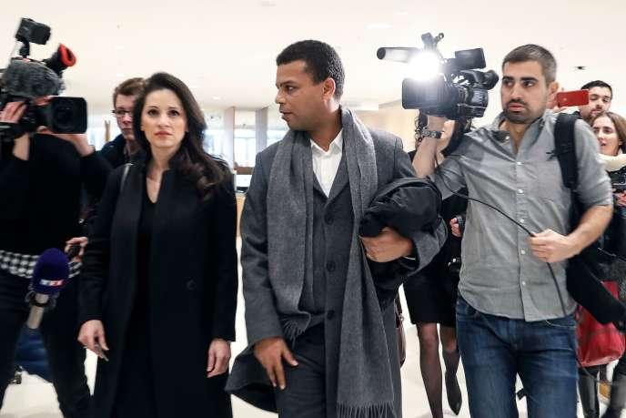 Yassine Bouzrou au tribunal de grande instance de Paris, le 18 février.
