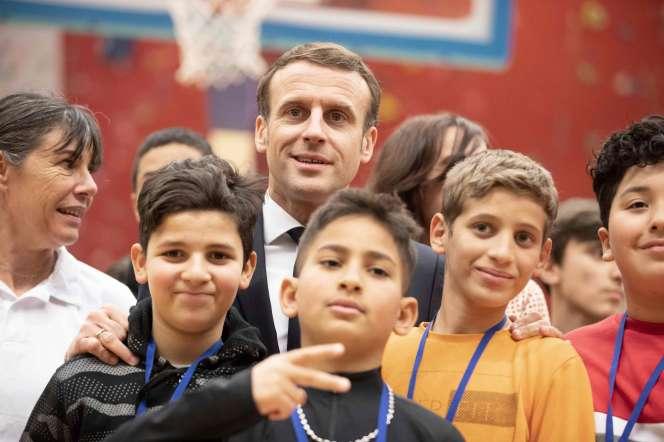 Emmanuel Macron à Mulhouse, le 18 février.