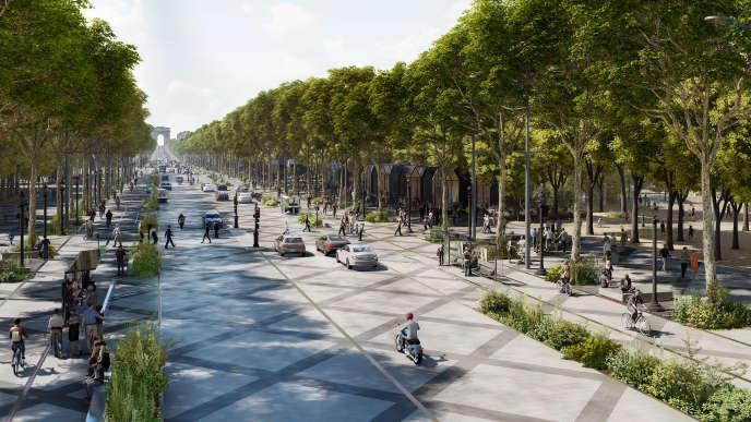 Simulation du bas de l'avenue, imaginé par l'étude.