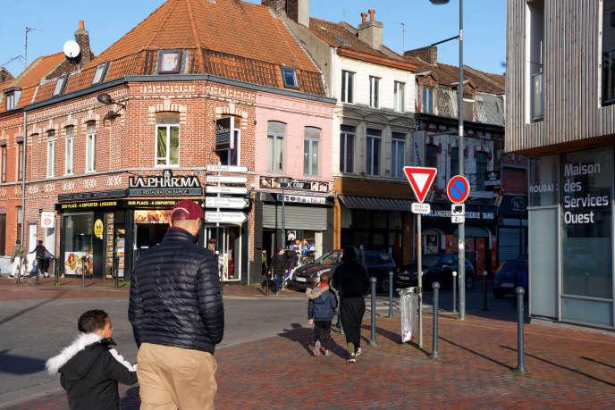 Le quartier de l'Epeule, à Roubaix, le 18 janvier.