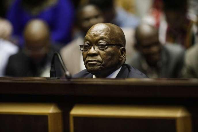L'ancien président sud-africain Jacob Zuma comparaît devant la Haute Cour de Pietermaritzburg pour corruption, le 15 octobre 2019.