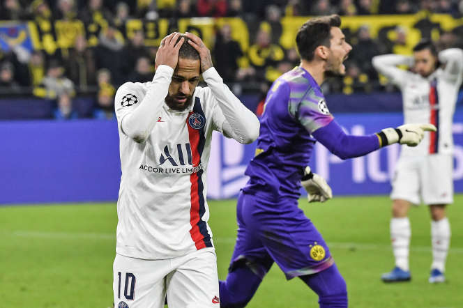Le but deNeymar n'aura pas suffi au PSG pour arracher le nul à Dortmund, vainqueur 2-1, mardi 18 février.