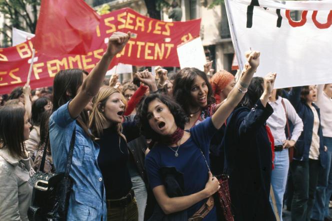 Manifestation du MLF, le 1er mai 1971.