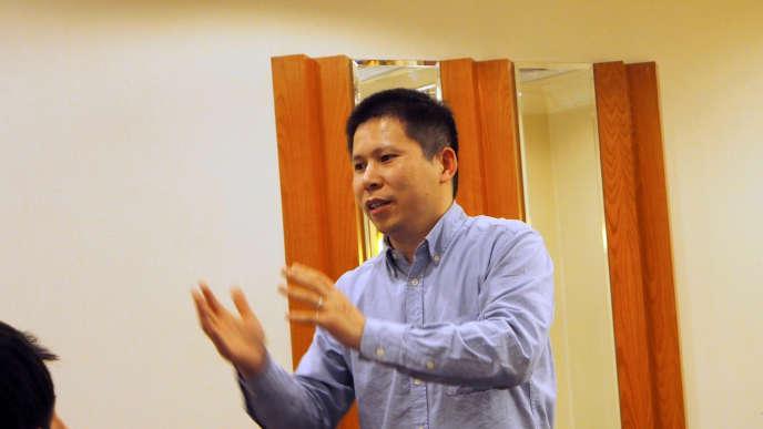 Le militant chinois Xu Zhiyong, à Pékin, en 2013.