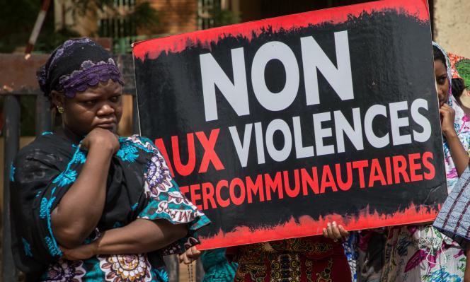 Manifestation à Ouagadougou, le 22juin 2019, demandant«vérité et justice» pour les victimes du massacre de Yirgou, dans le nord du Burkina Faso, en janvier.