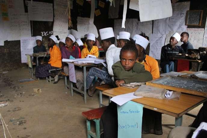 Dans la classe de la seconde chance de l'école de Duber, en Ethiopie, le 31janvier 2020.