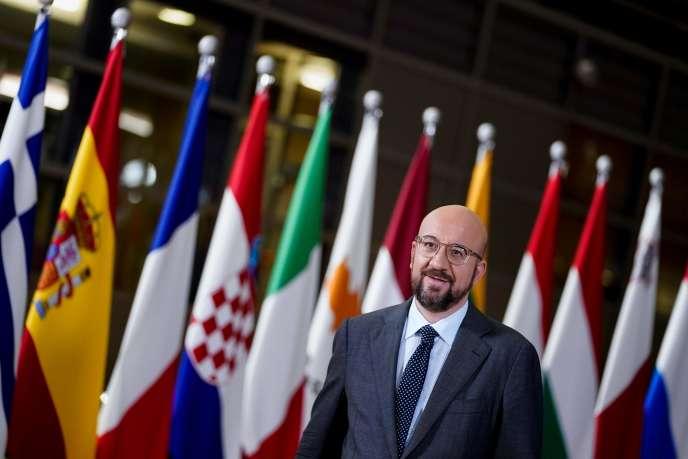 Le président du Conseil européen, Charles Michel, à Bruxelles, le 16 février.