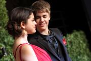 Selena Gomez etJustin Bieber, lors du dîner des Oscars organisé par «Vanity Fair» àHollywood en Californie, en février 2011.