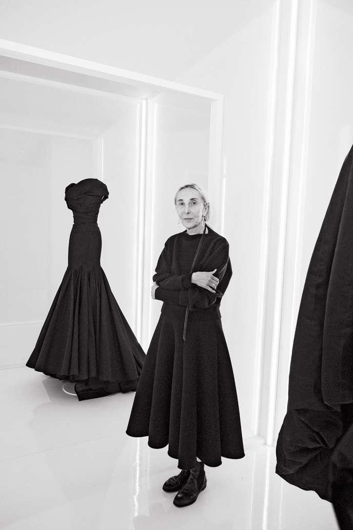 La galeriste italienneCarla Sozzani, le 13février 2020, au siège de la maison Azzedine Alaïa, à Paris.