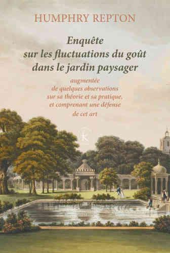 Humphry Repton (1752-1818) est un paysagiste anglais dont la notoriété dans son pays égale celle de son prédécesseur Lancelot «Capability» Brown, le « Le Nôtre» anglais. Il a conçu de nombreux jardins et parcs pour une clientèle dont la fortune n'était pas qu'héréditaire. Il doit lui-même une partie de sa notoriété à ses fameux«red books», ces livrets rouges dans lesquels il présentait les jardins à leur propriétaire dans leur état d'origine, puisavec ses sugestions d'aménagement. Dans cette«Enquête» opportunément traduite, il énonce ses propres principes, et décrit ce qui, selon lui, doit primer au jardin : l'art, le goût et l'utilité.