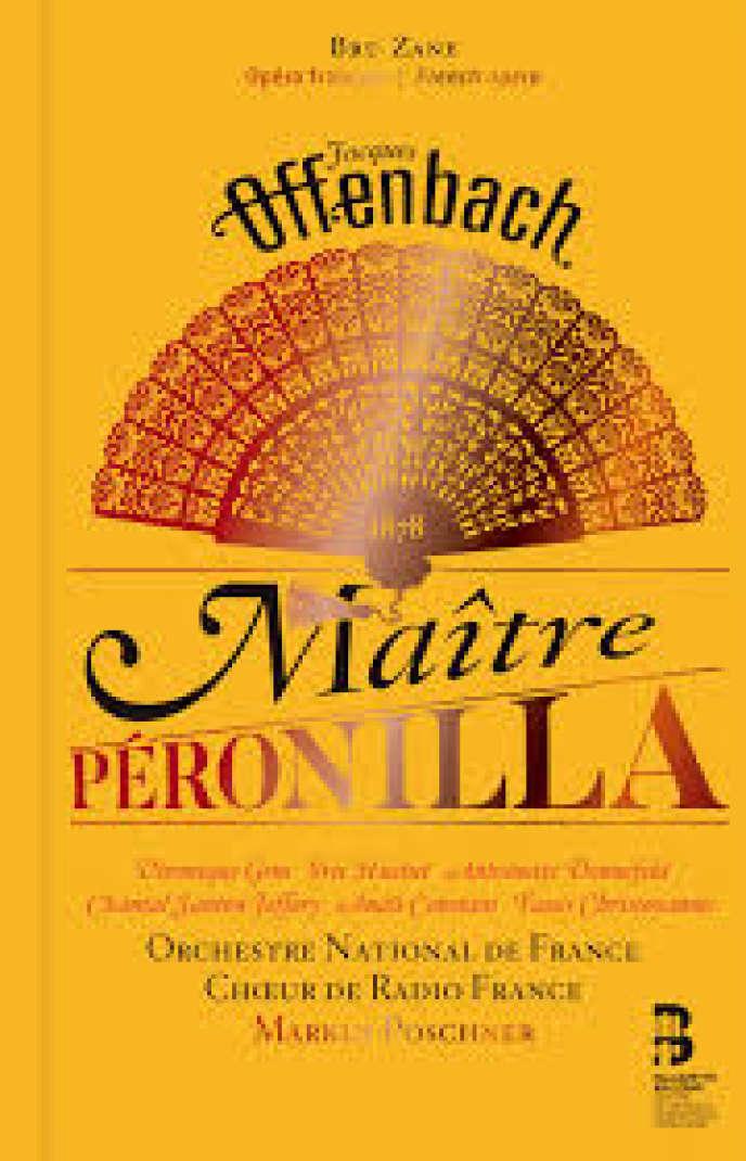 Pochette du double CD avec un livre de l'album« Maître Péronilla», de Jacques Offenbach.