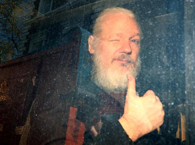 Le fondateur de WikiLeaks, Julian Assange, après avoir été arrêté à Londres, le 11 avril 2019.