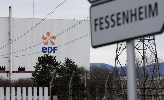 La centrale de Fessenheim (Haut-Rhin), la plus ancienne du parc nucléaire français, le 13 février.
