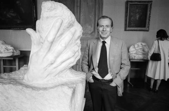 Jean Daniel, au musée Rodin à Paris, en mai 1979.
