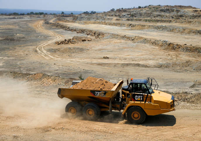 La mine de phosphate de Dorowa, au Zimbabwe, en octobre 2019.