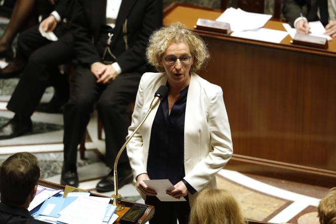 La ministre du travail, Muriel Pénicaud, s'exprime à l'Assemblée nationale, à Paris, le 4 février.