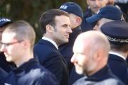Emmanuel Macron lors de sa visite à Mulhouse (Haut-Rhin), le 18 février.