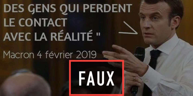 La fausse citation de Macron sur les retraités qui « perdent le contact avec la réalité »