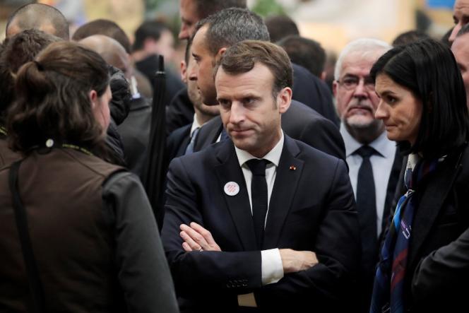 Le président Emmanuel Macron, au Salon de l'agriculture, à Paris, en février 2019.