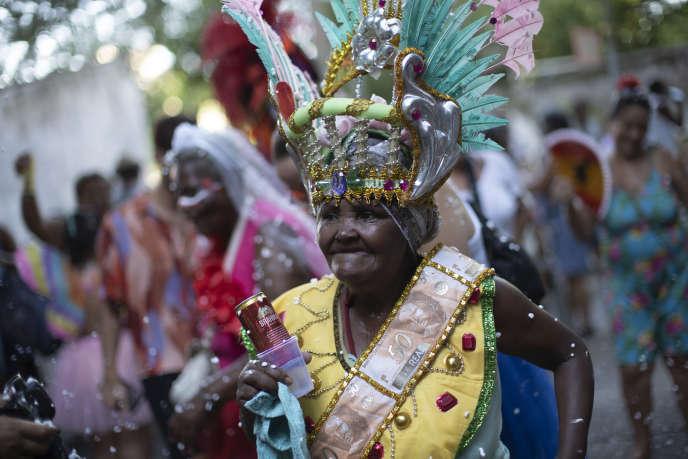 Préparation du Carnaval de Rio, le 20 février 2020.