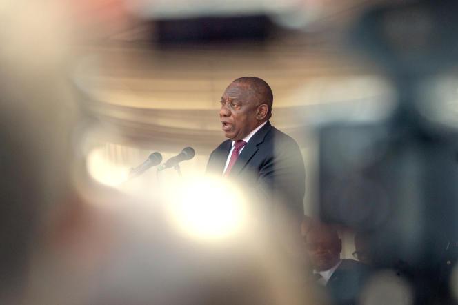 Le président sud-africain, Cyril Ramaphosa, à Harare, au Zimbabwe, le 14septembre 2019.