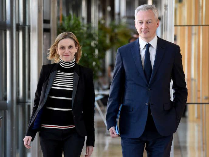 Le ministre de l'économie, Bruno Le Maire, et sa secrétaire d'Etat, Agnès Pannier-Runacher, à Bercy (Paris), le 21 février.