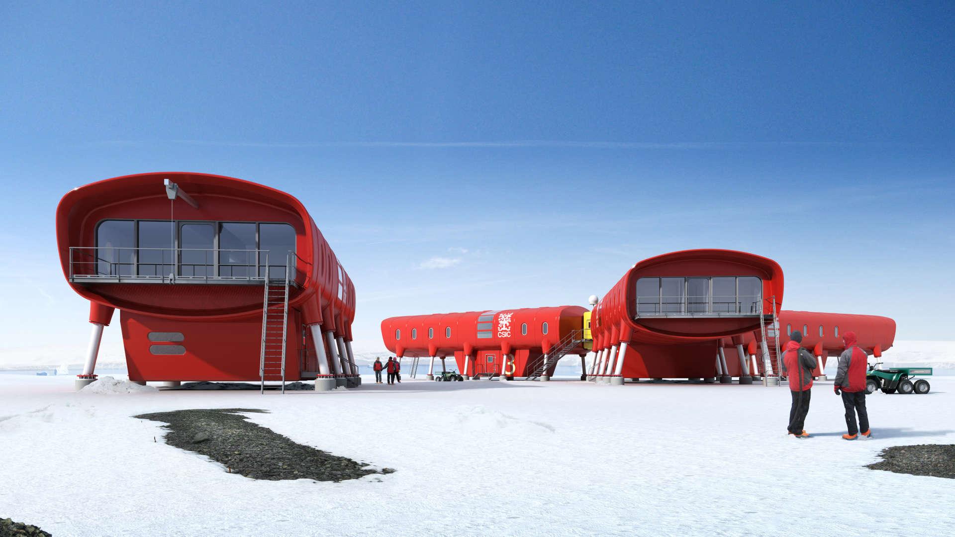 La nouvelle station espagnole Juan Carlos 1 sur la péninsule antarctique, ouverte en 2018.