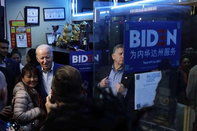 Le candidat à l'investiture démocrate à la présidentielle américaine Joe Biden, à Las Vegas (Nevada), le 18 février 2020.