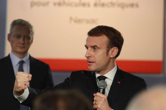Fin janvier, le président français, Emmanuel Macron – accompagné du ministre de l'économie, Bruno Le Maire – a posé, à Nersac, près d'Angoulême (Charente), la première pierre d'une ligne pilote de batteries.