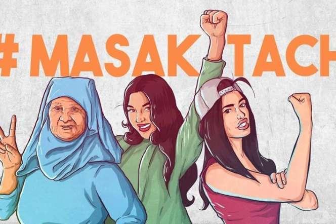 Illustration de la page d'accueilFacebook du collectif Masaktach (« Je ne me tairai pas » en dialecte arabe marocain).