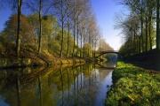 Le Canal de l'Ourcq, dans le Parc de Sevran, en Seine-Saint-Denis.