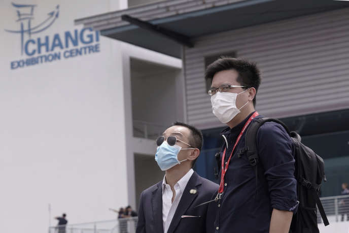 A l'aéroport de Singapour, le 21 février 2020.