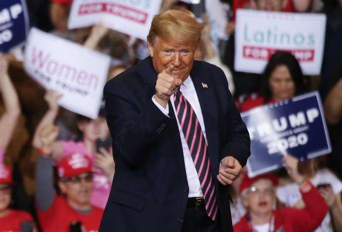 Le président Trump a donné un meeting au centre de convention de Las Vegas (Nevada), vendredi 21 février 2020.