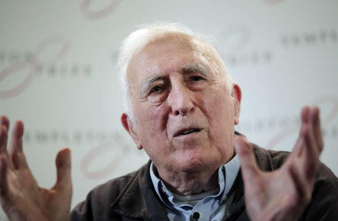 Le fondateur de l'Arche, Jean Vanier, le 11 mars 2015.