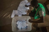 Un bureau de vote à Lomé, la capitale du Togo, le 22 février.