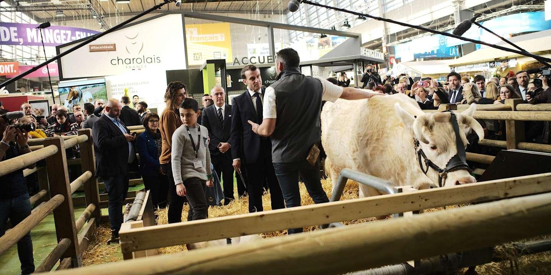 Au Salon de l'agriculture, Emmanuel Macron tente d'apaiser la « colère » du monde agricole