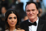 Quentin Tarantino et sa femme Daniella Pick pendant le Festival de Cannes, le 25 mai 2019.