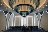 Des fidèles prient dans la mosquée du centre d'An-Nour, à Mulhouse (Haut-Rhin), le 17février.