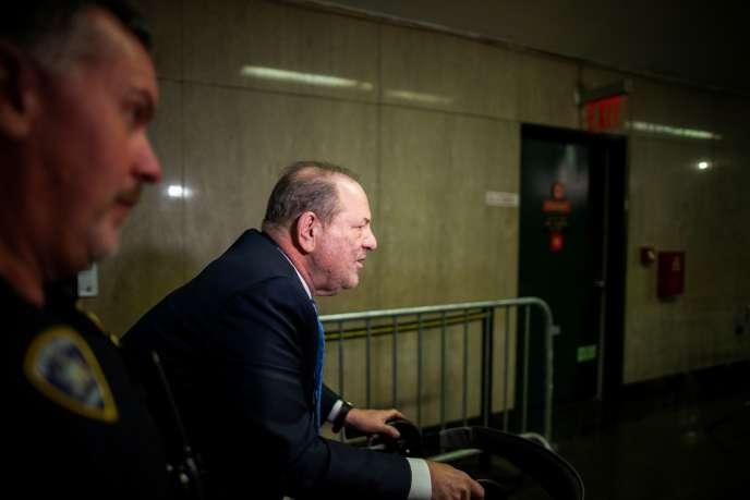 Harvey Weinstein à New York lors de son procès, le 24 février.