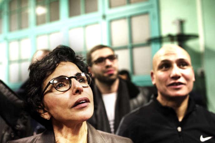 Rachida Dati lors d'une visite au gymnase Ronsard, à Paris, en janvier.