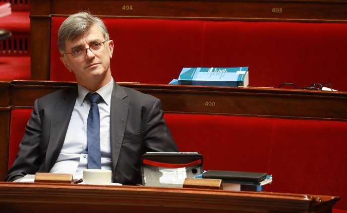 Jacques Maire, lors des débats sur la réforme des retraites dans l'Hémicycle, le24février à Paris.