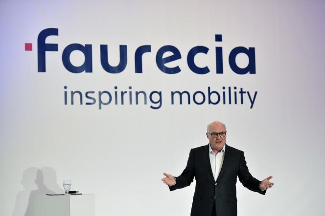 Patrick Koller, directeur général de Faurecia, au CES de Las Vegas, en janvier 2018.